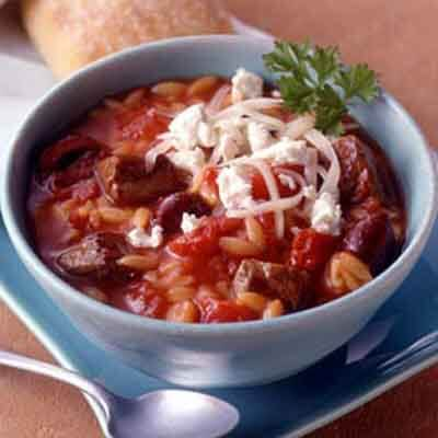 Mediterranean Beef & Orzo Soup Image