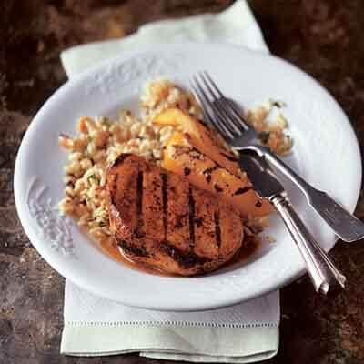 Mustard & Bourbon Glazed Pork Chops Image