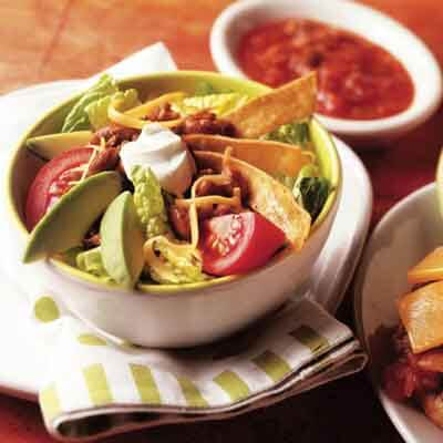 Chili Bean Taco Salad Image