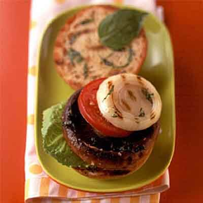 Grilled Portabella Mushroom Burgers Image
