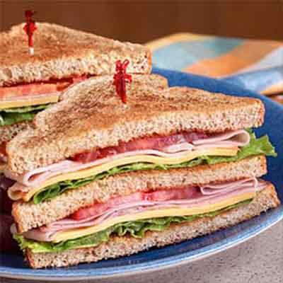 All American Deli Club Sandwich Recipe Land O Lakes