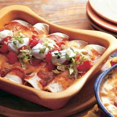 Spicy Black Bean & Chicken Enchiladas Image