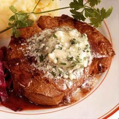 Beef Tenderloins With Roquefort Butter Image