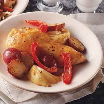 Roasted Honey-Mustard Chicken & Vegetables Image