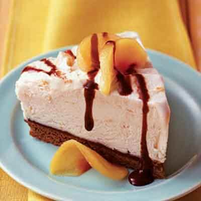 Peaches & Cream Brownie Mud Pie Image