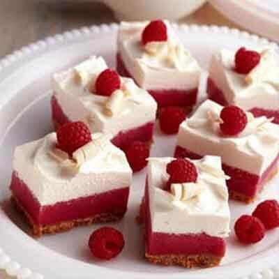 Frozen White Chocolate Raspberry Mousse Bars Image