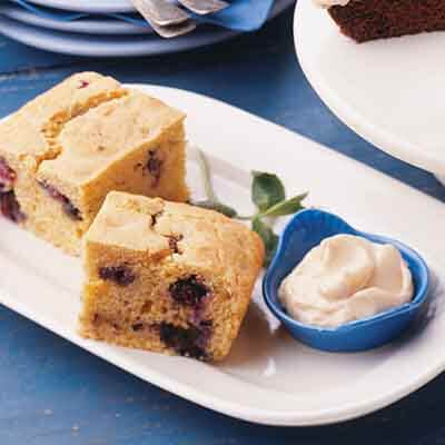 Blueberry Cornbread With Maple Butter Image
