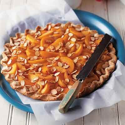 Peach Crostata with Toasted Almonds