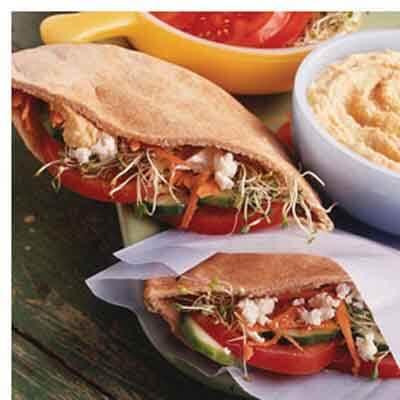 Crunchy Hummus Stuffed Pitas Image