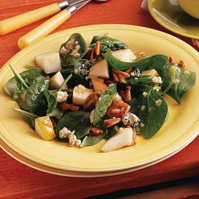 Spinach, Pear & Almond Salad Image