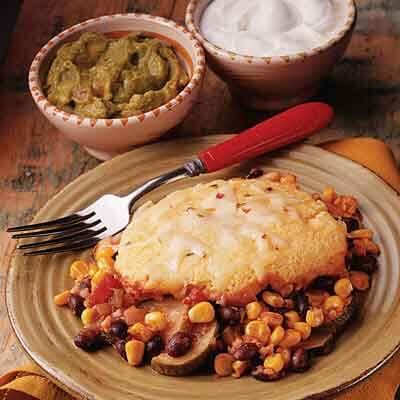Southwestern Vegetable Cornbread Bake Image