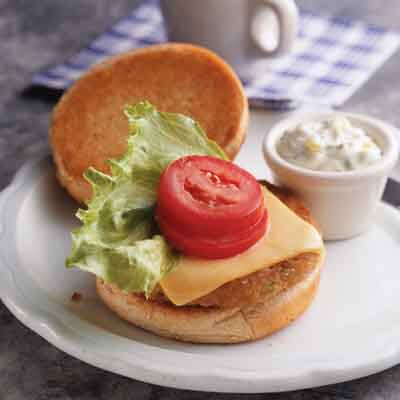 Cheese-Topped Tuna Burgers Image