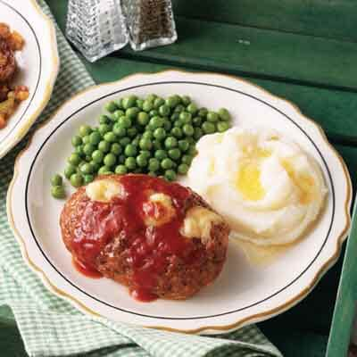 Cheese-Filled Italian Meat Loaves Image