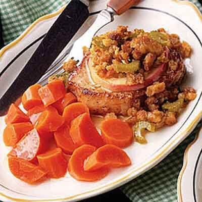 Stuffing Topped Pork Chop Recipe