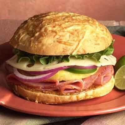 Tropical Ham & Swiss Sandwich Image