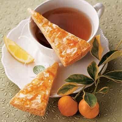 Orange Cardamom Shortbread Wedges Image
