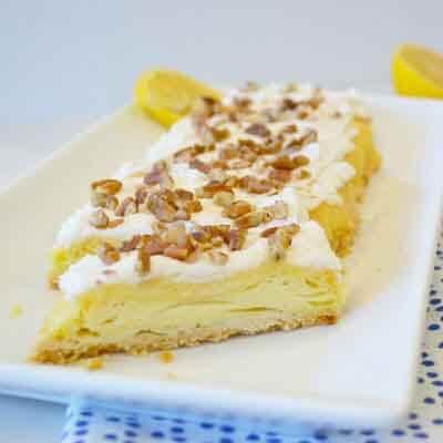 Lemon Pecan Pastry Slices Image