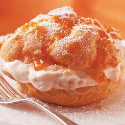 Apricot Cream Puffs Image