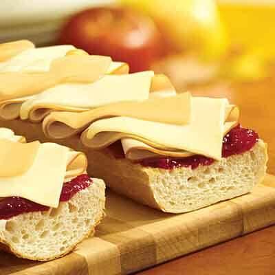 Cheesy Turkey Cranberry Sandwich Image