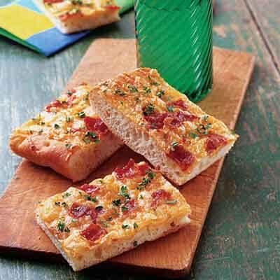 Cheesy Bacon Snack Bread Image