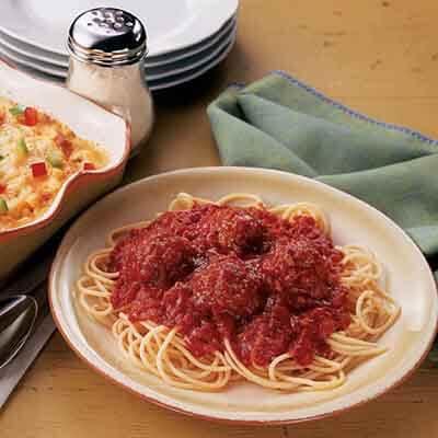 Spaghetti & Turkey Meatballs Image