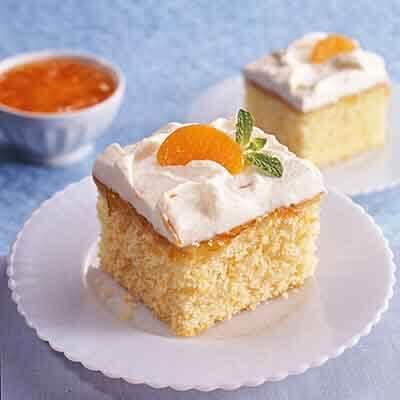 Mandarin Marmalade Cream Cake Recipe | Land O'Lakes