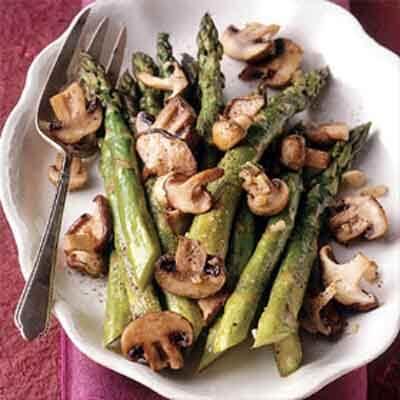 Roasted Asparagus & Mushrooms Image