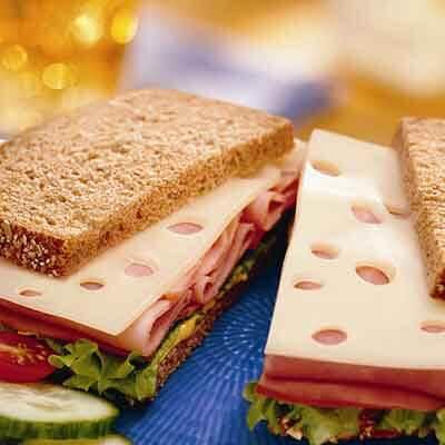 Lunchbox Swiss 'N Ham Sandwich Image