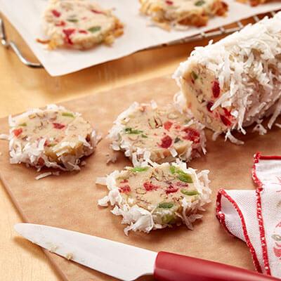 Fruit Cake Slice & Bake Cookies