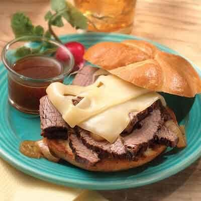 French Onion Beef Brisket Sandwiches Image