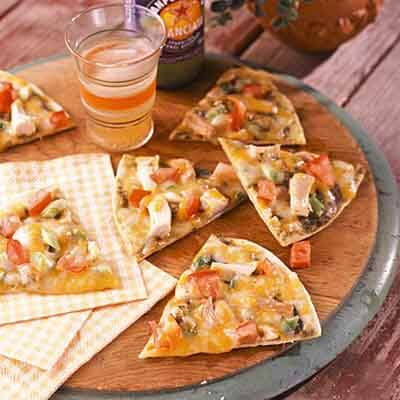 Grilled Cracker Crust Pizzas Image