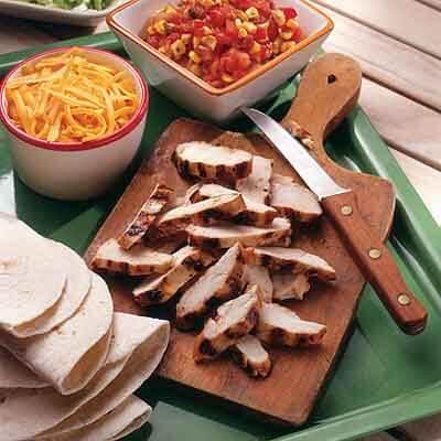 Chicken Fajitas With Grilled Sweet Corn Salsa Image