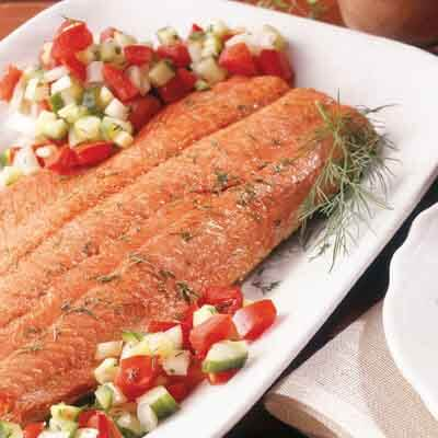 Hickory Smoked Salmon With Garden Salsa Image