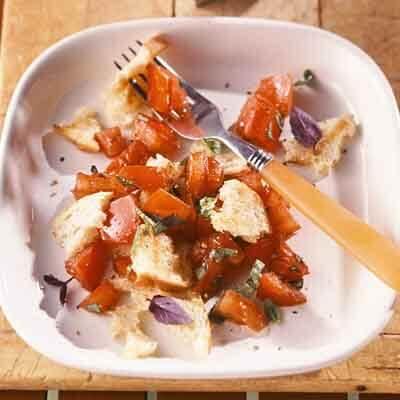 Tomato Basil & Grilled Bread Salad Image