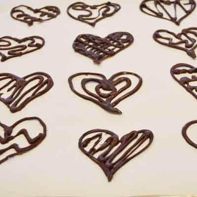 Chocolate Filigree Hearts Image