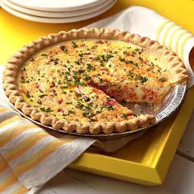 Salmon Dinner Quiche Image