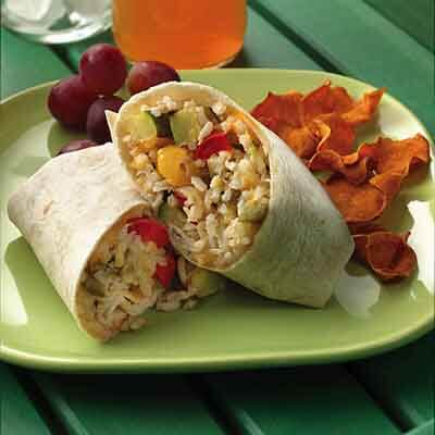 Roasted Vegetable & Rice Wrap