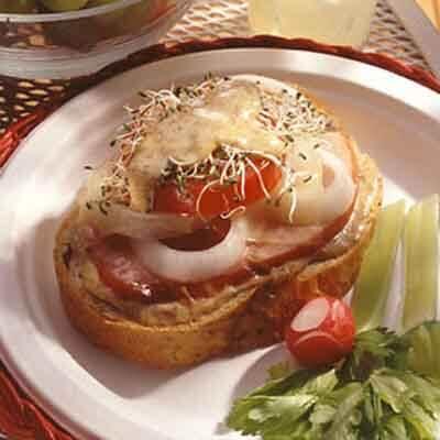 Ham & Cheese On Rye Image