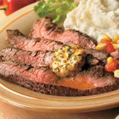 Southwestern Skirt Steak with Chile Lime Butter