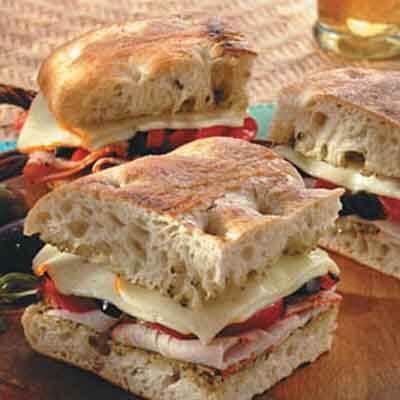 Mediterranean Grilled Turkey Sandwich Image