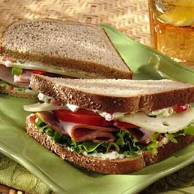 Hawaiian Ham & Swiss Sandwich Image