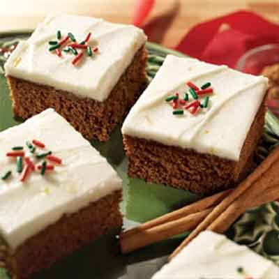 Gingerbread Bars With Orange Frosting Image