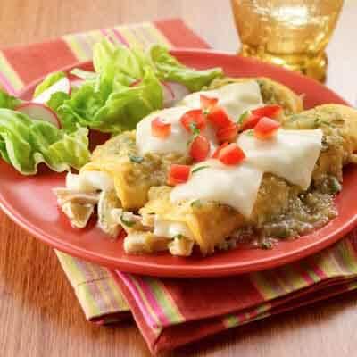 Tomatillo Chicken Enchiladas Recipe