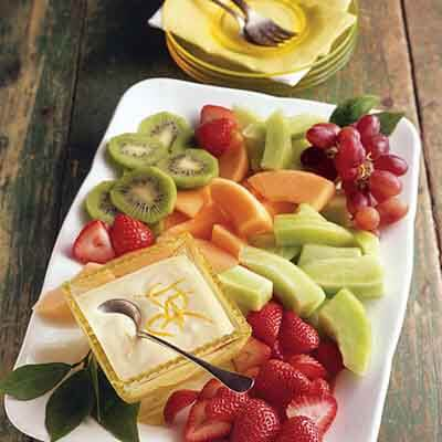 Fresh Fruit With Lemon Crème Image
