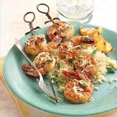 Ginger Curry Shrimp Skewers Image