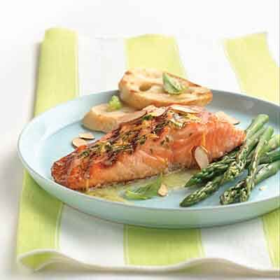 Salmon Fillets With Orange Basil Butter Image