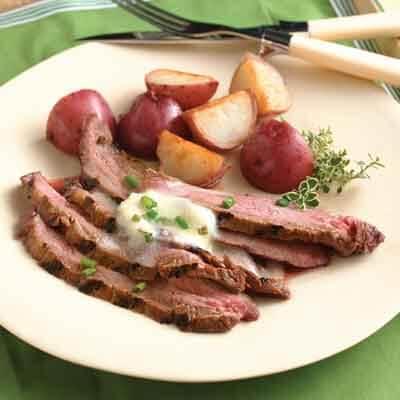 Flank Steak With Horseradish Butter Image