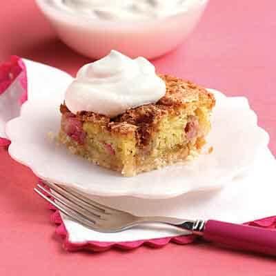 Rhubarb Cookie Cake Recipe
