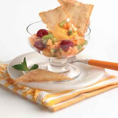 Sorbet Sundaes With Spiced Buttery Crisps Image