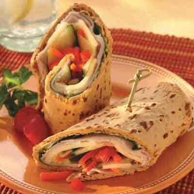 Turkey Veggie Wrap Image